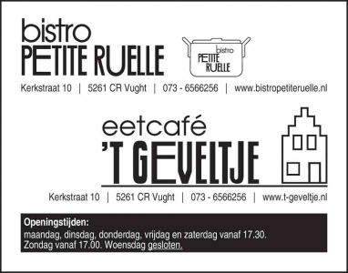 Petite Ruelle advertentie